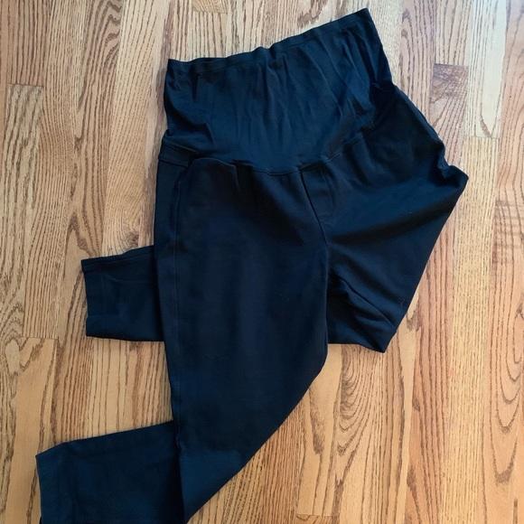 842336b2d20ff GAP Pants   Maternity Black Ponte Leggings Size L   Poshmark